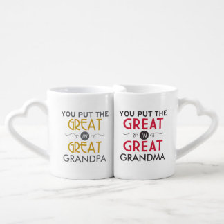 The Great in Great Grandparents Couples Coffee Mug