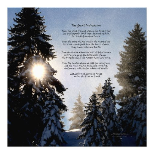 The Great Invocation - Pine Tree Sun Light Photograph