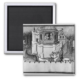 The Great Khan in Peking 2 Inch Square Magnet