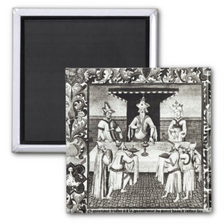 The Great Khan's feast 2 Inch Square Magnet