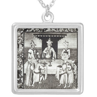 The Great Khan's feast Square Pendant Necklace