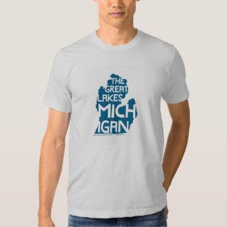 The Great Lakes Michigan T Shirt