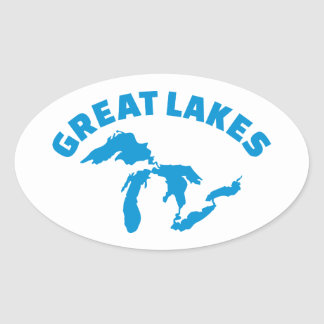 The Great Lakes Oval Sticker