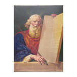 The Great Lawgiver Moses with the Ten Commandments Canvas Prints