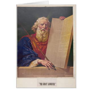 The Great Lawgiver Moses with the Ten Commandments Card