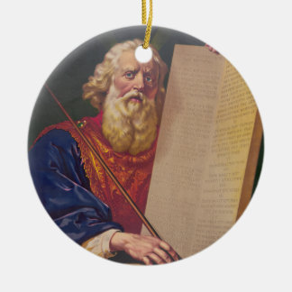 The Great Lawgiver Moses with the Ten Commandments Ceramic Ornament