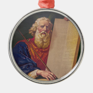The Great Lawgiver Moses with the Ten Commandments Metal Ornament
