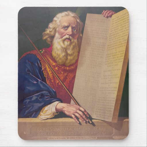 The Great Lawgiver Moses with the Ten Commandments Mouse Pad