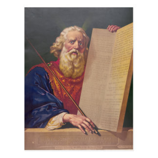 The Great Lawgiver Moses with the Ten Commandments Postcard