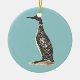 The Great Loon(Colymbus glacialis) Ceramic Ornament