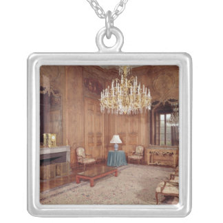 The Great Lounge with woodwork Silver Plated Necklace