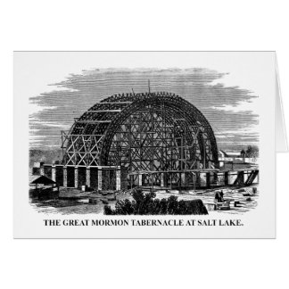 The Great Mormon Tabernacle at Salt Lake Card