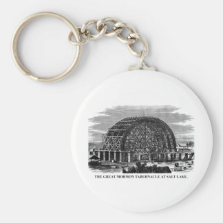 The Great Mormon Tabernacle at Salt Lake Basic Round Button Keychain