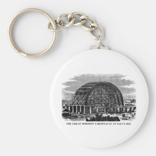 The Great Mormon Tabernacle at Salt Lake Keychain