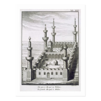 The Great Mosque at Medina, from 'Voyages en Arabi Postcard