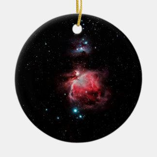 The Great Nebula in Orion Ceramic Ornament