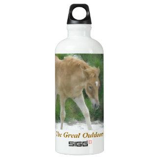 The great outdoors: Assateague horse Water Bottle
