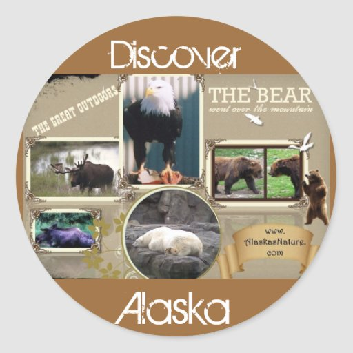 The Great Outdoors in Alaska Round Stickers