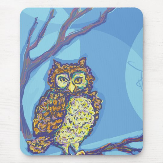 The Great Owl Mouse Pad