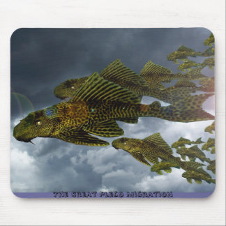 The Great Pleco Migration Mouse Pad