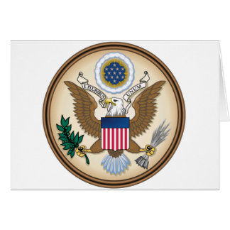 The Great Presidential Seal of the USA Card