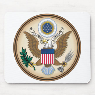 The Great Presidential Seal of the USA Mouse Pad