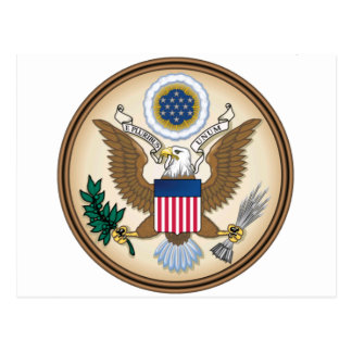 The Great Presidential Seal of the USA Postcard