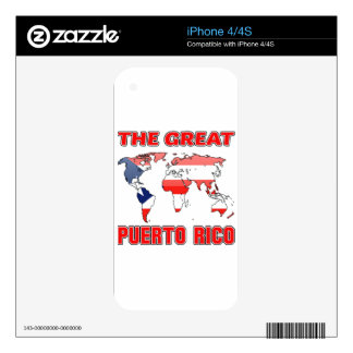 The Great PUERTO RICO. Skins For iPhone 4S