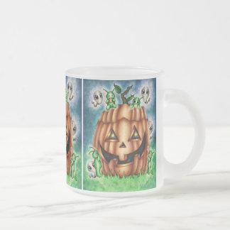 """The Great Pumpkin"" Halloween Kawaii Frosted Glass Coffee Mug"