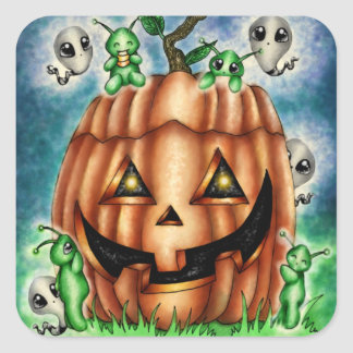 The Great Pumpkin Halloween Kawaii Square Sticker