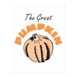 The Great Pumpkin Maternity Postcard