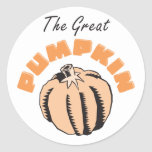 The Great Pumpkin Maternity Round Stickers