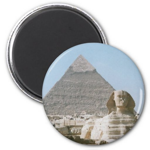 The Great Pyramid of Giza 2 Inch Round Magnet