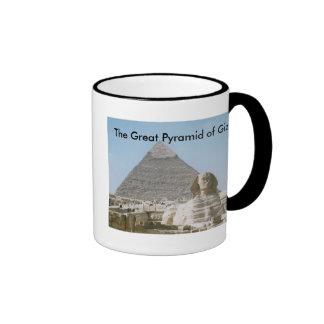 The Great Pyramid of Giza Ringer Coffee Mug