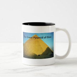 The Great Pyramid of Giza Two-Tone Coffee Mug