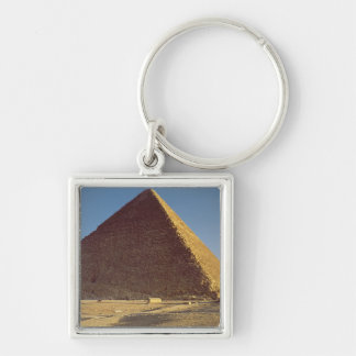 The Great Pyramid of Khufu  Old Kingdom Silver-Colored Square Keychain