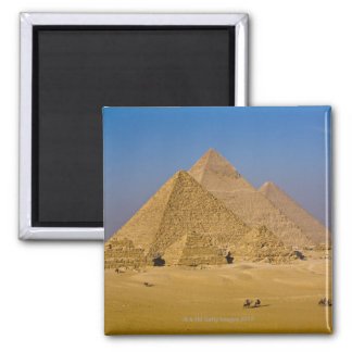 The Great Pyramids of Giza, Egypt 2 Inch Square Magnet