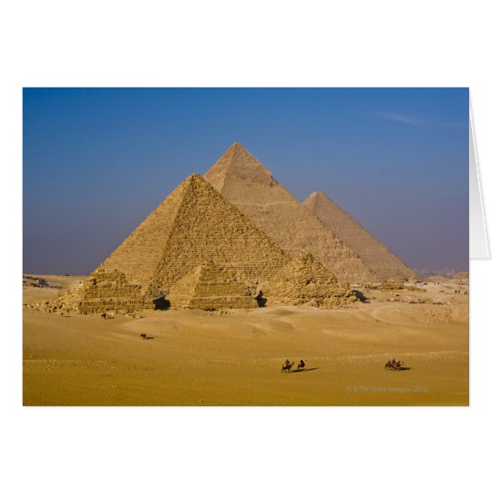 The Great Pyramids of Giza, Egypt Card