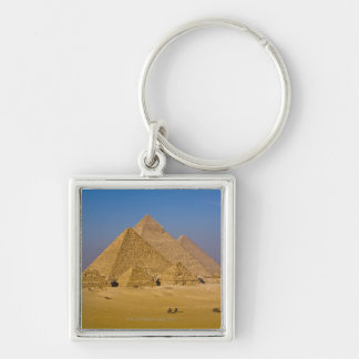 The Great Pyramids of Giza, Egypt Keychain