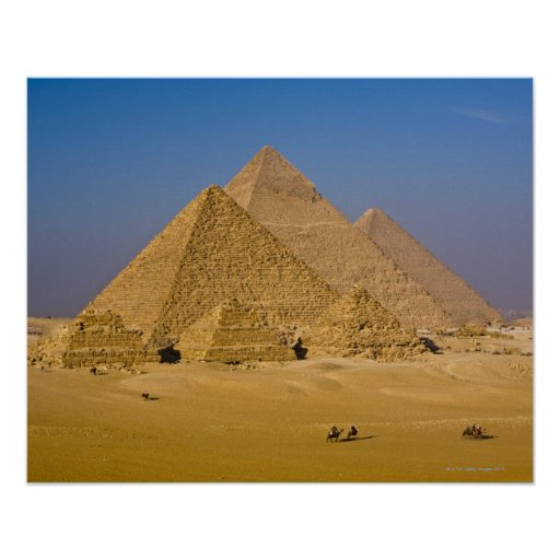 The Great Pyramids of Giza, Egypt Posters
