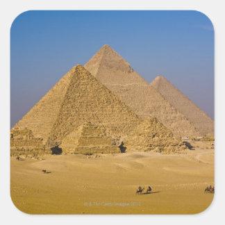 The Great Pyramids of Giza, Egypt Square Sticker