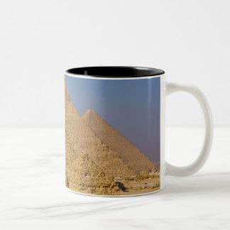The Great Pyramids of Giza, Egypt Two-Tone Coffee Mug