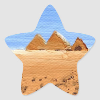 The Great Pyramids Star Sticker