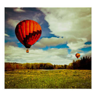 The Great Race Hot Air Balloons Poster