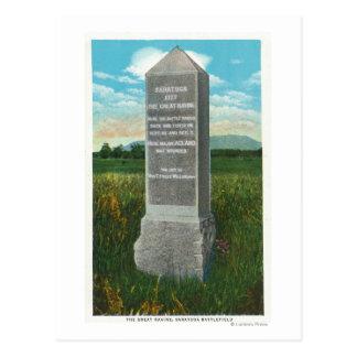 The Great Ravine of the Saratoga Battlefield Postcard