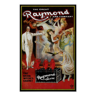 The Great Raymon ~ Weird Witches Cabinet Poster