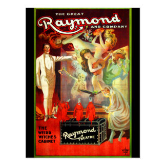 The Great Raymond! Postcard