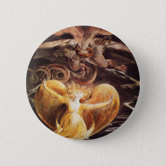 The Great Red Dragon And The Woman Clothed Pinback Button