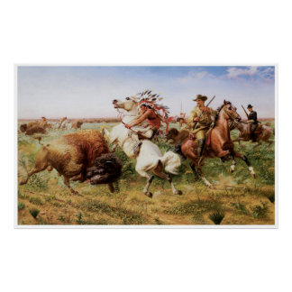 The Great Royal Buffalo Hunt, 1895 Poster