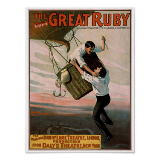 """The Great Ruby"" Vintage Theater Poster"